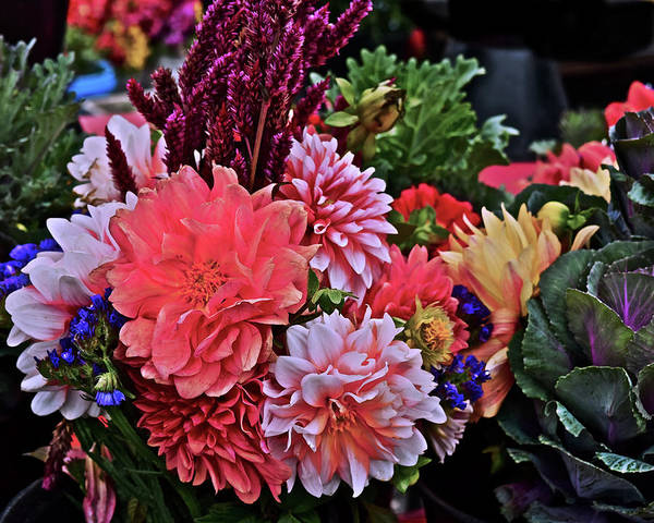 Photograph - 2017 Mid October Monona Farmers' Market Harvest Bouquet by Janis Nussbaum Senungetuk