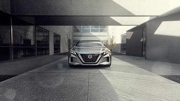 Nissan Digital Art - 2017 Nissan Vmotion 2 Concept 4 by Mery Moon