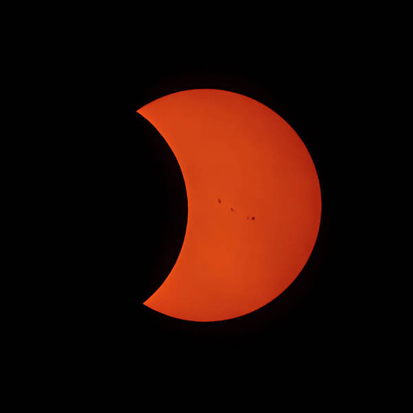 Photograph - 2017 Partial Solar Eclipse From New Jersey At 329 by Terry DeLuco