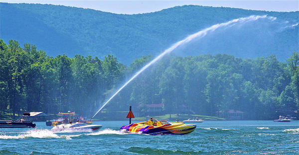 Photograph - 2017 Poker Run, Smith Mountain Lake, Virginia by James Roney