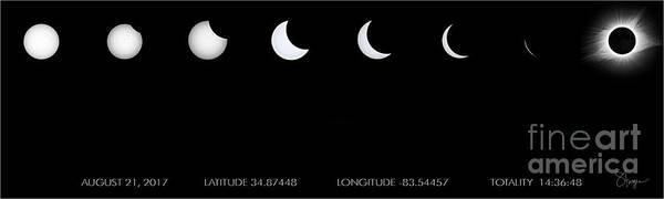2017 Solar Eclipse Art Print