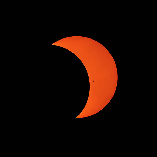 Photograph - 2017 Solar Eclipse From New Jersey At 310 by Terry DeLuco