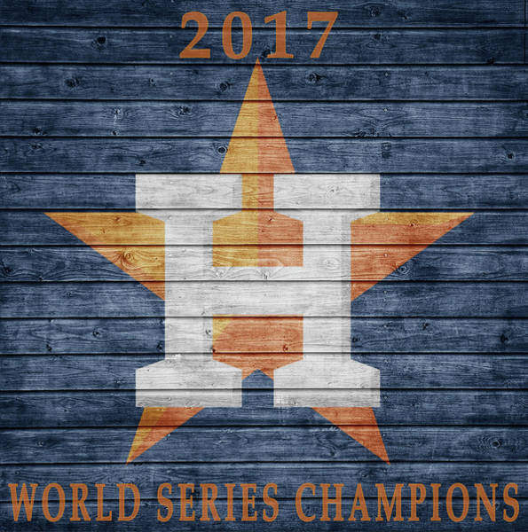 Mixed Media - 2017 World Series Champions by Dan Sproul