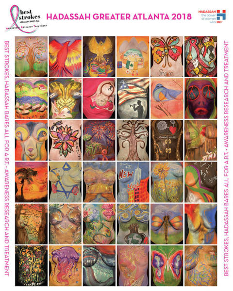 Breast Cancer Awareness Wall Art - Photograph - 2018 Commemorative Best Strokes Poster by Best Strokes -  formerly Breast Strokes - Hadassah Greater Atlanta