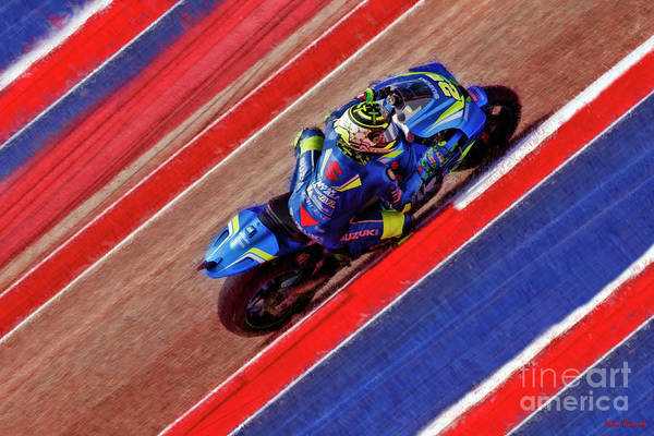 Photograph - 2018 Motogp Andrea Iannone Middle Of The Art by Blake Richards