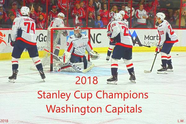 Washington Capitals Photograph - 2018 Stanley Cup Champions Washington Capitals by Lisa Wooten