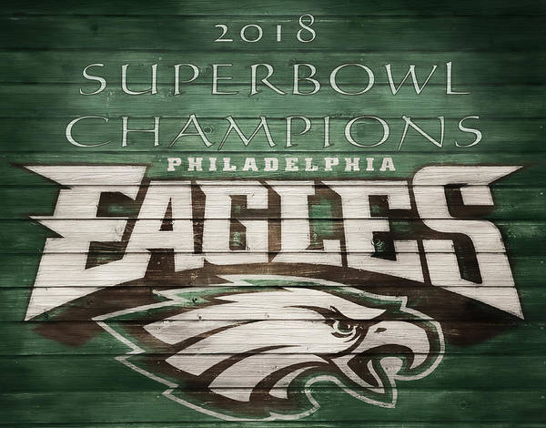 Wall Art - Mixed Media - 2018 Superbowl Eagles Barn Wall by Dan Sproul