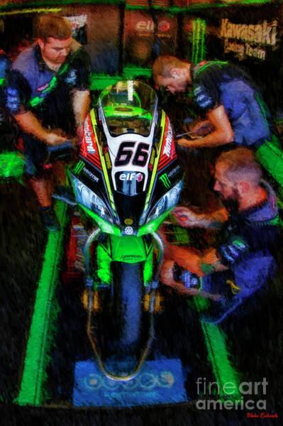 Photograph - 2018 World Superbike Tom Sykes Bike -team by Blake Richards