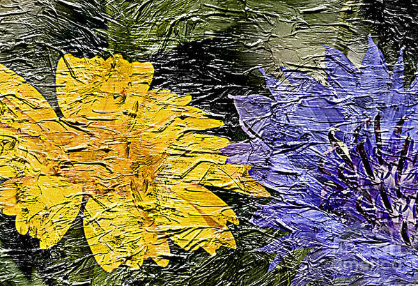 Painting - 20a Abstract Floral Painting Digital Expressionism by Ricardos Creations