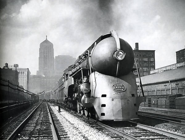 Wall Art - Photograph - 20th Century Limited Streamlined Train  1939 by Daniel Hagerman