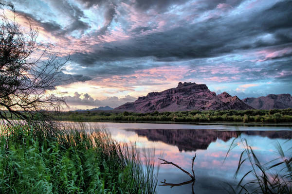 Photograph - $350 - 20x30 Canvas -  Red Mountain Sunset 090313-0233-2 by Tam Ryan