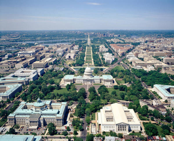Federal Triangle Wall Art - Photograph - Aerial View Of Buildings In A City by Panoramic Images