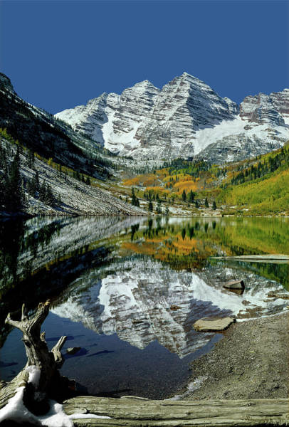 Photograph - 210426 Maroon Bells Reflect  by Ed  Cooper Photography
