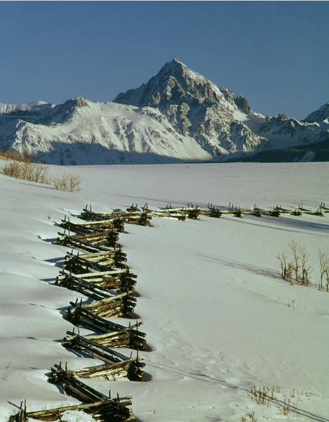 Photograph - 210603 Mt. Sneffels And Fence by Ed Cooper Photography