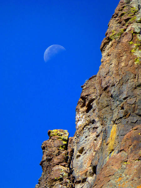 Photograph - 211132 Moon And Cliffs by Ed Cooper Photography