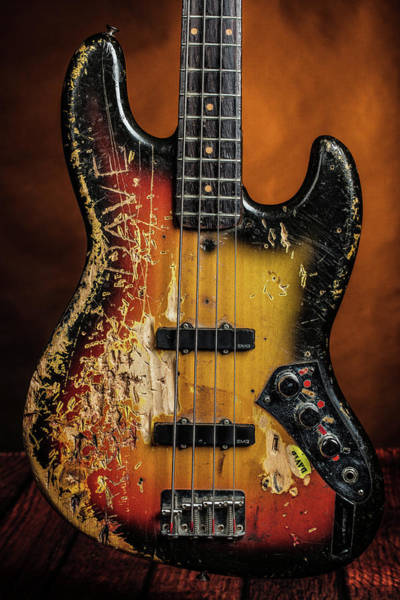 Photograph - 21.1834 011.1834c Jazz Bass 1969 Old 69 by M K Miller