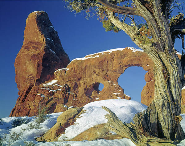 Photograph - 212705 Turret Arch In Winter by Ed Cooper Photography