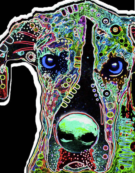 Dane Mixed Media - 212c Great Dane By Nicholas Nixo by Never Say Never