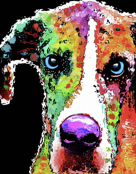 Dane Mixed Media - 212e Great Dane By Nixo by Never Say Never