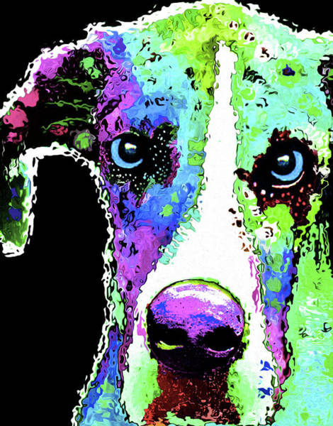Dane Mixed Media - 212f Great Dane By Nicholas Nixo by Never Say Never