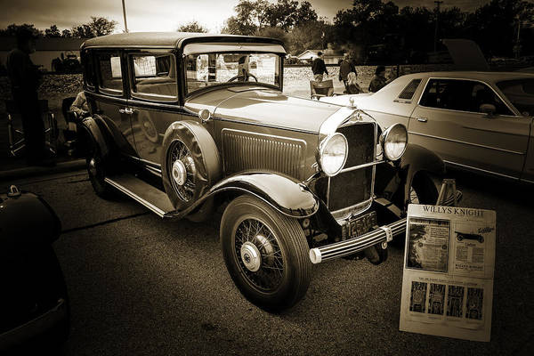Photograph - 1929 Willys Knight Vintage Classic Car Automobile Photographs Fi by M K Miller