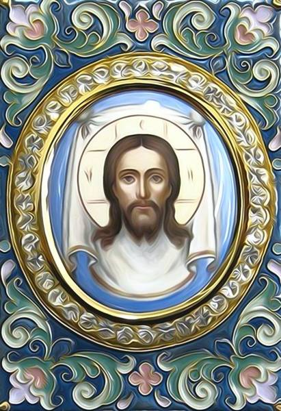 Wall Art - Digital Art - Jesus Christ Catholic Art by Carol Jackson