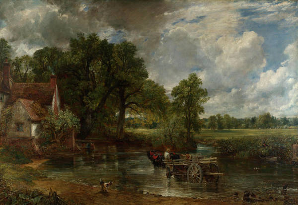 Waterway Painting - The Hay Wain by John Constable