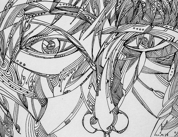 Drawing - Untitled 2017b001 by Lino Vicente