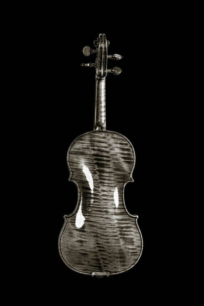 Photograph - 220 .1841 Violin By Jean Baptiste Vuillaume Bw by M K Miller