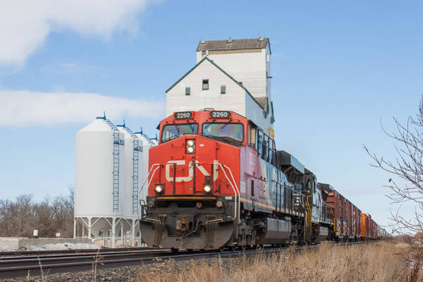 Grain Elevator Photograph - 2260 At The Dufresne Grain Elevator by Steve Boyko