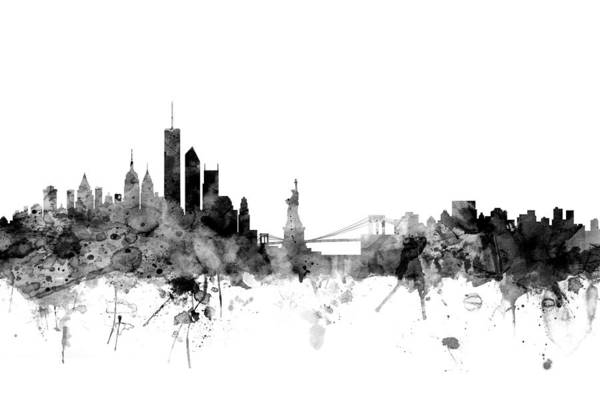 Big Apple Wall Art - Digital Art - New York Skyline by Michael Tompsett