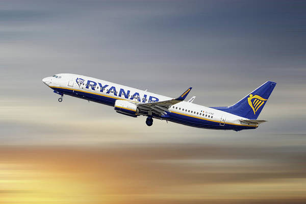 Wall Art - Mixed Media - Ryanair Boeing 737-8as by Smart Aviation