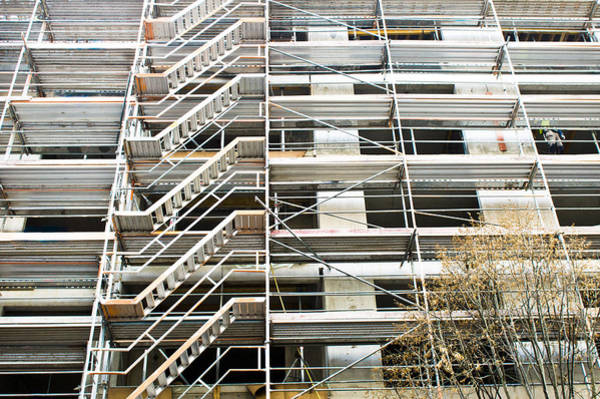 Multi-storey Wall Art - Photograph - Scaffolding by Tom Gowanlock