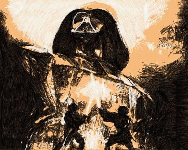Star Wars Episode 3 Wall Art - Digital Art - Star Wars Galaxies Poster by Larry Jones