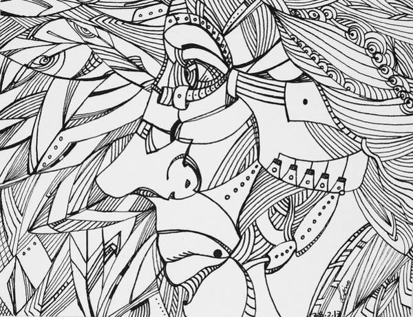 Drawing - Untitled 2017b002 by Lino Vicente