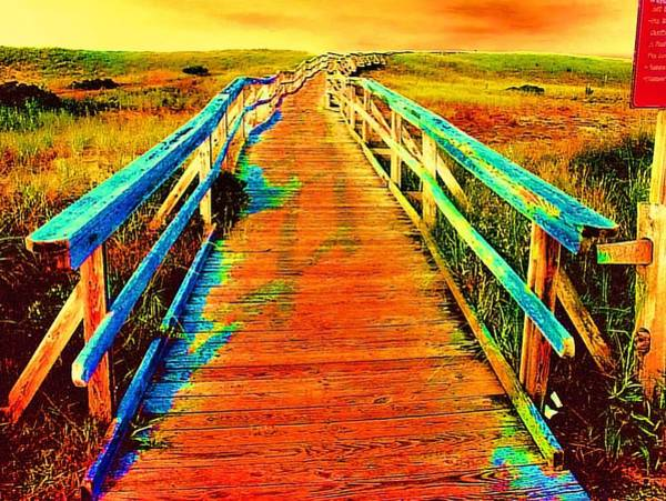 Endless Painting - 2355z  Wooden  Walkway by Ed Immar