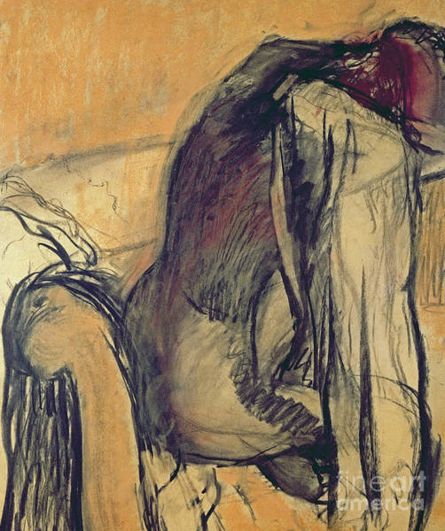 Degas Painting - After The Bath by Edgar Degas