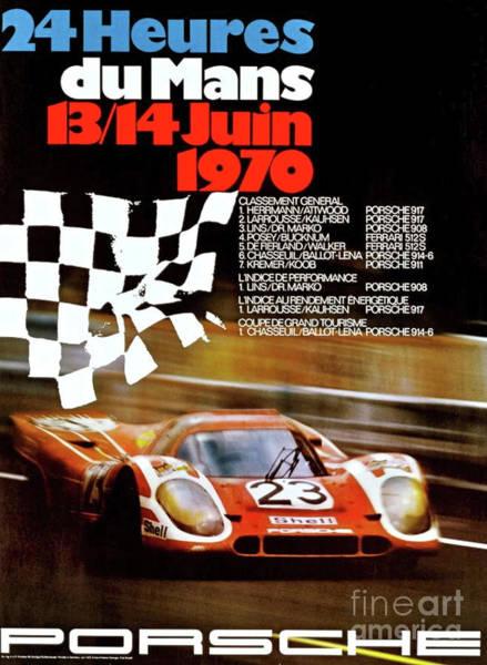 Wallpaper Mixed Media - 24 Hours Le Mans, Porsche by Thomas Pollart
