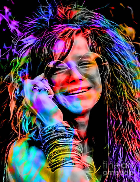 Wall Art - Mixed Media - Janis Joplin Collection by Marvin Blaine