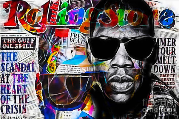 Wall Art - Mixed Media - Jay Z Collection by Marvin Blaine