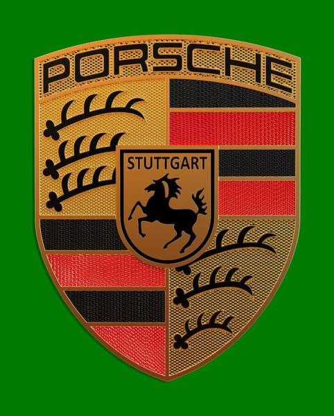 Label Wall Art - Digital Art - Porsche Label by Porsche Label