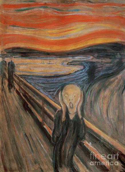 Wall Art - Painting - The Scream by Edvard Munch