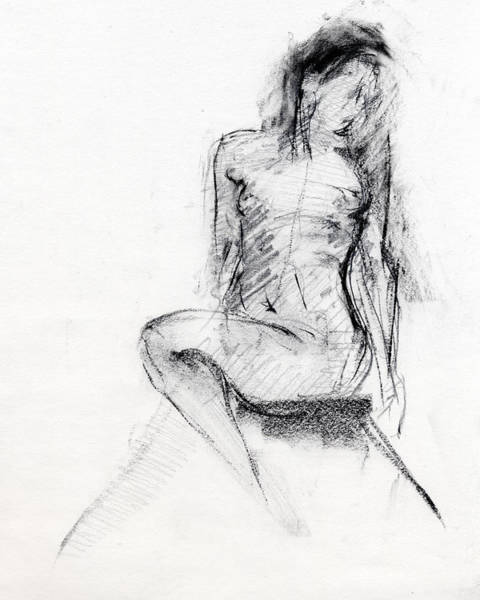 Females Drawing - Rcnpaintings.com by Chris N Rohrbach