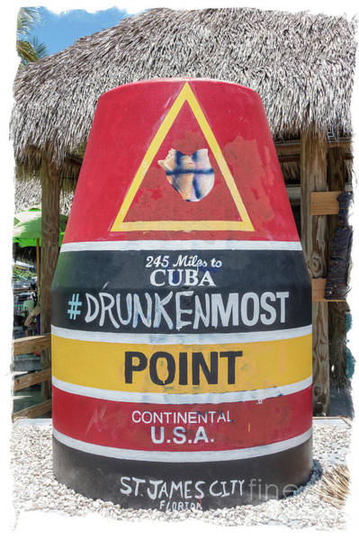 245 Miles To Cuba Drunkenmost Point Art Print