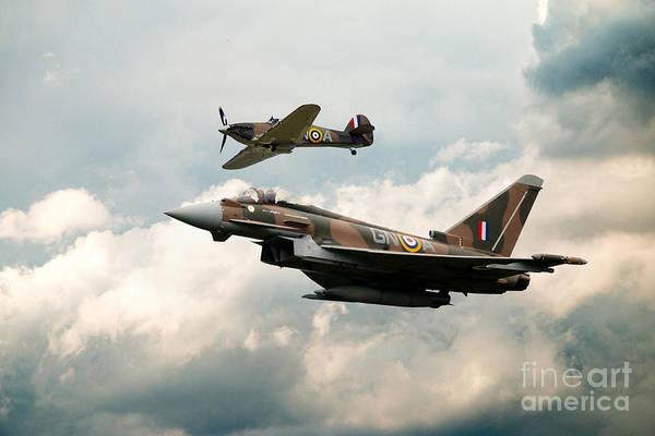 Hurricane Digital Art - 249 Squadron Legend by J Biggadike