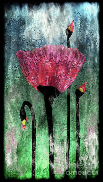 Painting - 24a Abstract Floral Painting Digital Expressionism by Ricardos Creations
