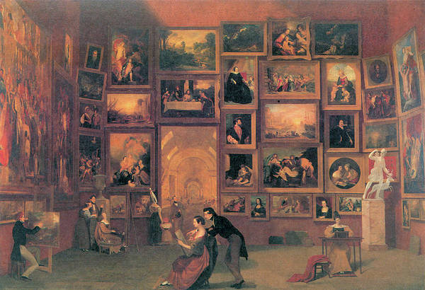 Photograph - Gallery Of The Louvre by Samuel Morse