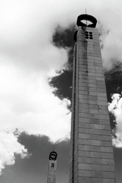 Photograph - 25 De Abril Monument In Black And White by Lorraine Devon Wilke