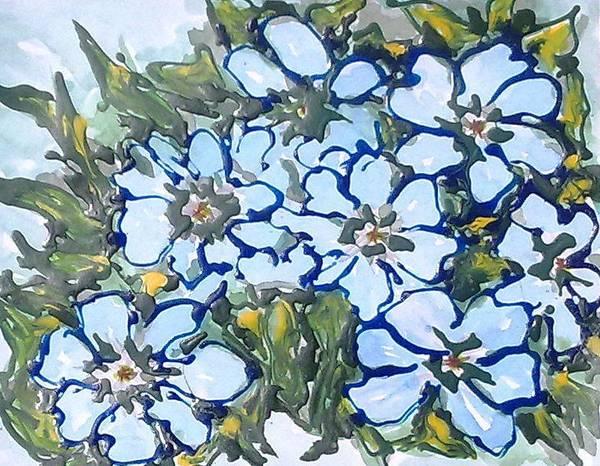 Digital Flower Painting Art Print by Baljit Chadha