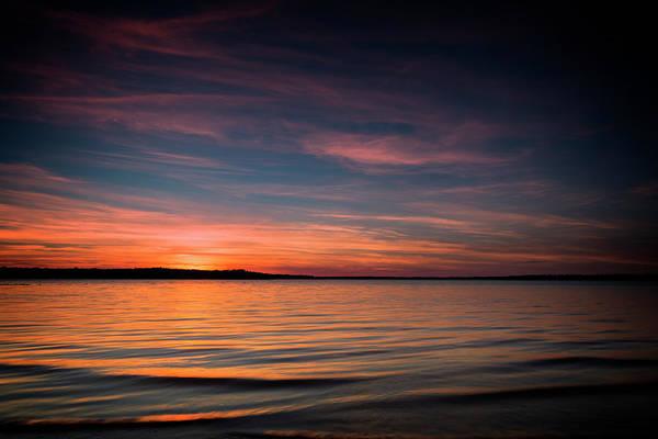 Wall Art - Photograph - Lake Sunset by Ricky Barnard